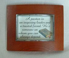 PASTOR Inspired Friend Leader U Depend On FRAMED TREASURES Verses Poems Plaques