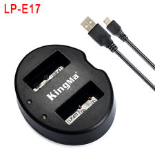 For Canon M3/M5/M6/760D/750D/800D/77D LP-E17 Battery USB Dual Charger