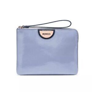 Mimco Echo Mist Blue Patent Leather Medium Pouch Wallet • Authentic • Promotion