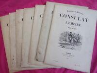 "2.Lot de livrets "" Consulat et Empire "", gravures & portraits signés Raffet 1845"