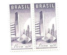 Poster Stamp Label pair BRASIL PROVA 1956