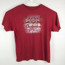 Budweiser Mens Xl Vtg King Of Beers Red T Shirt a35