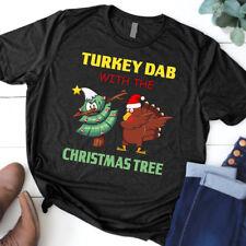 Funny Dabbing Turkey Thanksgiving Christmas Tree Men Women S-5XL T-Shirt Gift