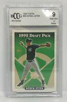Derek Jeter Rookie Yankees 1993 Topps #98 RC BCCG 9 NM MINT HOF