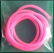 1m x 3mm Luminous Soft Silicone Rig Tube Hooks Swivels Fishing Rigs - Pink
