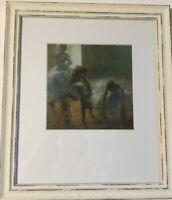 Edgar Degas Framed Print 'Three Girls At A Dance Class' Matted Rustic Frame