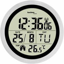 LCD Baduhr Badezimmeruhr Uhr Wanduhr Funk funkgesteuert Temperatur Saugnapf