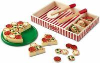 Melissa & Doug Wooden Pizza | Pretend Play | Food | 3+ | Gift Multicolor