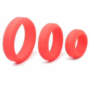 Donut Cock Ring Super Stretchy Strong Stay Harder Penis Rings ED Solution 3-Pack