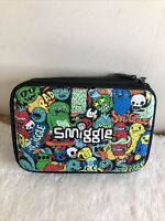 Smiggle Boys Monsters Black Pop Out Pencil Case Zip Lots Of Section Pockets A