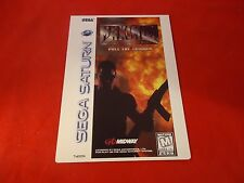 Maximum Force Sega Saturn Vidpro Promotional Display Card ONLY