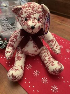 "Mary Meyer Plush Fabric Teddy Bear 9"""