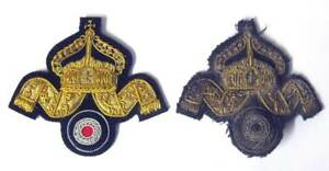 WW1 German Navy Deck Officers Cap Badge Imperial Kaisermarine Wreath U-Boat WWI