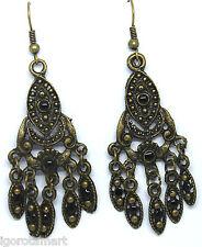 Classico stile vintage color bronzo orecchio Stud BORCHIE Dangle Earrings gioielli Boho