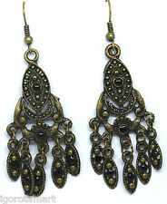 Classic Vintage Style Bronze Color Ear Stud Studs Dangle Earrings BOHO Jewellery