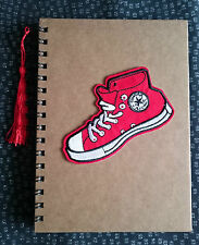 Funky Cute Retro CONVERSE TRAINER RED A5 Notebook Notepad Kitsch Fun Gift