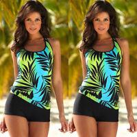 Womens Two Piece Tankini Bikini Set Swimsuit Bathing Suit Swimwear Plus Size