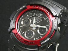 CASIO G-Shock AW591-4 AW-591-4 Black Red Analog Digital Free Ship !