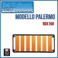 RETE A DOGHE LARGHE IN FAGGIO NATURALE 90X190cm SINGOLA A FASCA LARGA ORTOPEDICA