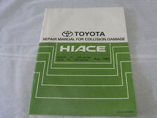 TOYOTA REPAIR MANUAL for Collision Damage HIACE RZH 10 LH 10 Pub No BRM023E 1989