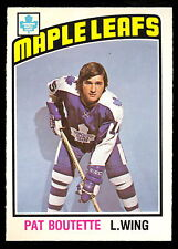 1976 77 OPC O PEE CHEE #367 PAT BOUTETTE NM TORONTO MAPLE LEAFS HOCKEY CARD