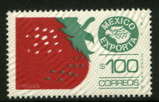 MEXICO Exporta 1134 $100P Strawberries Fluor Paper 8 MNH