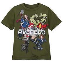 Disney Store Mens Avengers T Shirt Size Small Super Hero Iron Man Hulk Thor NEW