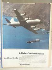 5/1995 PUB LOCKHEED P-3 ORION NAVY ASW MARITIME PATROL AIRCRAFT ORIGINAL AD