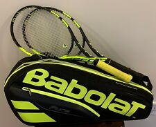 2 x Babolat Pure Aero Tennis Racquet w/ 6 Pack Bag (and accessories) NXT String