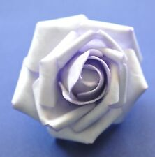 "SMALL 2.5"" Pale Lavender Foam Flower Hair Clip Wedding Bridesmaid Prom"