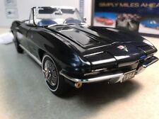 1/24 Franklin Mint Daytona Blue 1964 Corvette Convertible Sting Ray B11G311 #71
