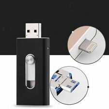 64GB New OTG Dual USB Memory i Flash Drive U Disk For IOS iPhone iPad/PC Black
