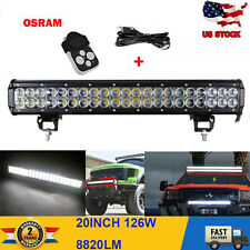 126W 20 inch OSRAM LED Light Bar Chevrolet Offroad 4x4 Truck Atv UTE Van Camper