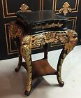 Chinese Antique Carved Teak Wood Pedestal Table
