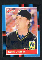 Tommy Gregg #203 signed autograph auto 1988 Donruss Baseball Trading Card