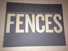 FENCES PROMO booklet Denzel Washington Viola Davis RARE SAG Awards August Wilson