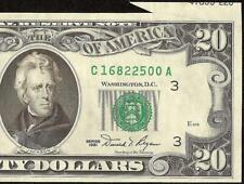 1981 $20 Dollar Bill Foldover Cutting Error Note Currency Paper Money