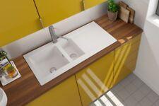 Spüle Küchenspüle Einbauspüle Mineralite Spülbecken 100 x 50 weiß respekta
