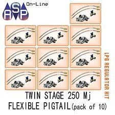 LPG REGULATOR KIT TWIN STAGE 250MJ SUIT CARAVAN AND HOME USE-PACK OF 10