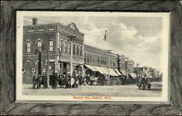 Kasson MN Market Day c1910 Street Scene Postcard