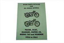 Spare Parts Catalog For 1956-1965 Harley-Davidson Hummer Single Models