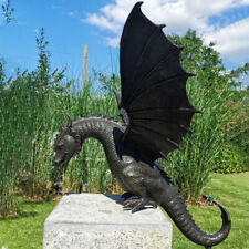New Style Garden Dragon Statue Fountain Ornament Resin Water Feature Sculpt Qf