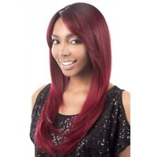 "STELLA - MOTOWN TRESS HIGH TEMP SYNTHETIC HAIR LONG PAGE SIDE BANG STYLE 24"" WIG"