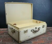 Immaculate Velum Vintage Suitcase Trunk By Harrods Of London