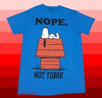 New Peanuts Charlie Brown Nope Not Today Snoopy Men's T-Shirt