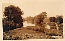 KINGSBURY WARWICKSHIRE ENGLAND~RIVER TAME FROM BRIDGE~PHOTO POSTCARD