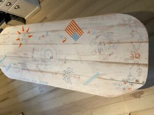 Surfboard Table,Mandala, Surfing gift, Art Decor New
