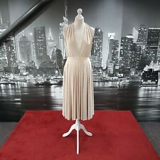 Multiway Dress (Latte-Size 10) Prom, Cruise, Ball, Cocktail, Races, Pageant