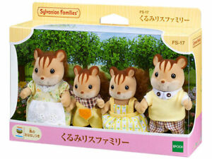 Sylvanian Families Calico Critters FS-17 Walnut Squirrel Family from Japan