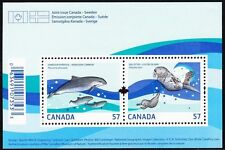 Canada Stamps -Souvenir sheet -Marine Life -Harbour Porpoise Sea Otter #2387 MNH